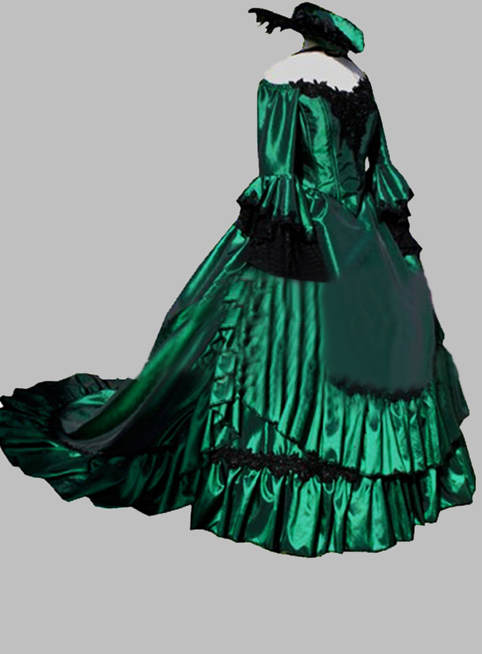 On sale R-039 19 century Vintage Costumes Victorian Gothic Lolita dress/Civil War Southern Belle Halloween dresses