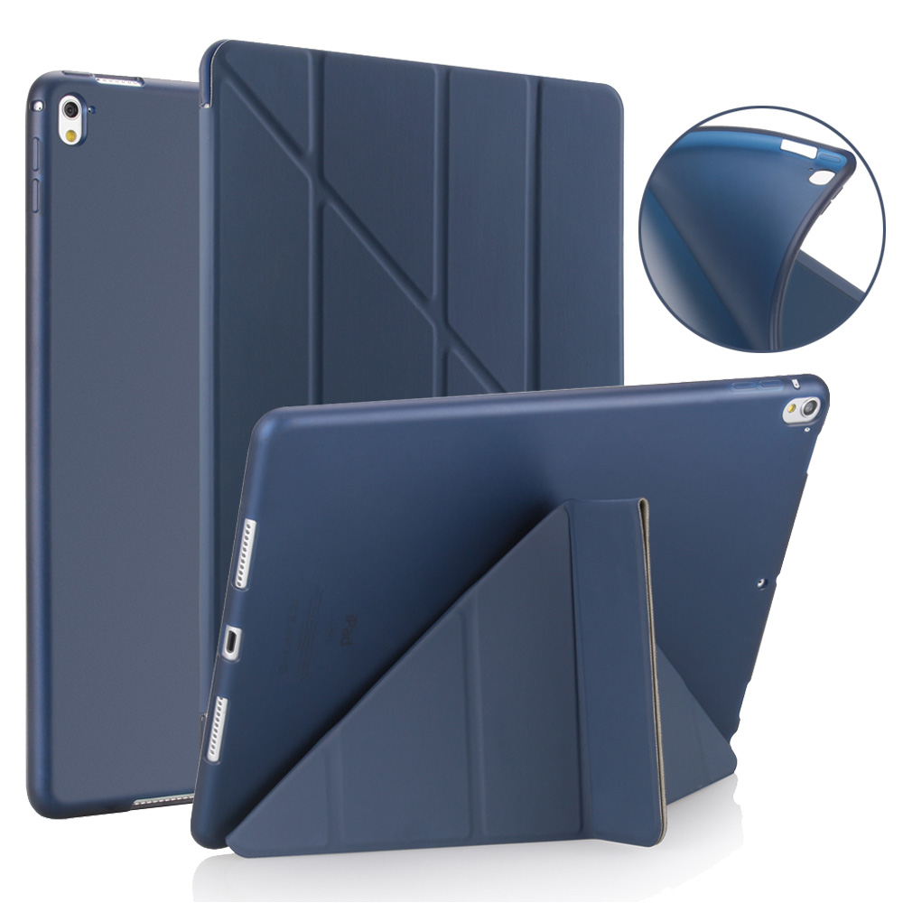 Case for iPad Pro 9.7 inch,Redlai Leather Smart Cover Magnetic Auto Wake Soft TPU Back Case For iPad Pro 9.7 inch 2016 Release redlai colors crystal clear laptop case