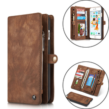 Caseme Luxury Leather Case For iPhone 7 6 6s Plus Flip Case Card Slot Wallet Cover Magnet Business Phone Case For iPhone 7 Plus