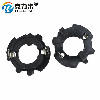KE LI MI 2 Pieces HID Conversion Bulbs Adaptors Bracket Fixed Base For Volkswagen VW Jetta Golf H7 Xenon Lights image