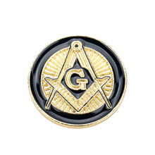 MQCHUN Fashion Gold Black Enamel Metal Men Lapel Pin Brooch Freemasonry  Masonic Male Retro Punk Brooches fa62d10fc996