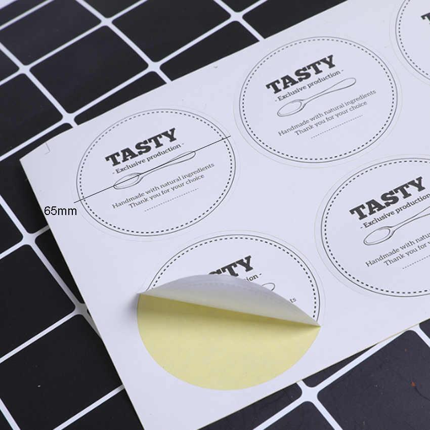 100 ชิ้น/ล็อตที่กำหนดเองถ้วยไอศครีมสติกเกอร์โลโก้รอบสี่เหลี่ยมผืนผ้าสติกเกอร์ป้ายกระดาษ DIY ตกแต่ง Scrapbooking สติกเกอร์