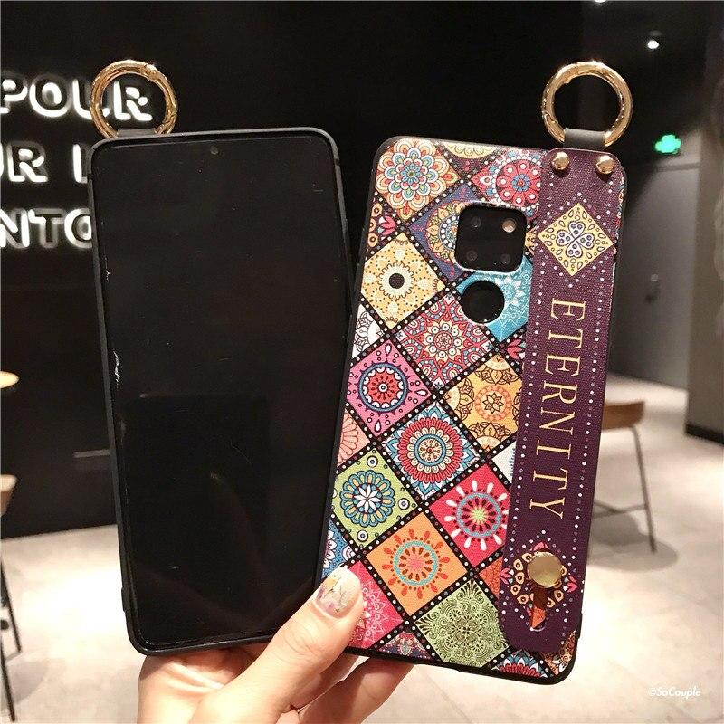 Wrist Strap Soft TPU Phone Case For Huawei Mate 10 20 Pro P10 Plus P20 P30 Pro Nova 3 3I 2S 3E Honor 10 7A Holder Case