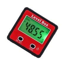 ANENG 2-кнопочный Цифровой Инклинометр уровень Box цифровой транспортир угловой видоискатель измеритель конического зубчатого колеса