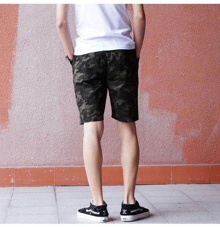 Aolamegs Camouflage Shorts Men Military Style Casual Camo Shorts Men\`s Summer New Fashion Streetwear Elastic Waist Beach Shorts (8)