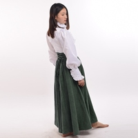 Victorian Period Cosplay High Waist Ruffle Blouse Skirt Set Vintage Steampunk Walking Outfit Women Gifts