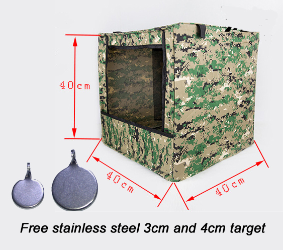 Paintball pcp Camouflage Foldable Canvas Shoot Target Box Airsoft Shooting Target Case for Outdoor Activities Target Bullseye