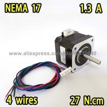 Nema17 Тип вилки шаговый двигатель 17HS13-1334S L 33 мм с 1,8 градусов 1,3 A 22 N. cm 4 провода лучшее качество продвижение продаж