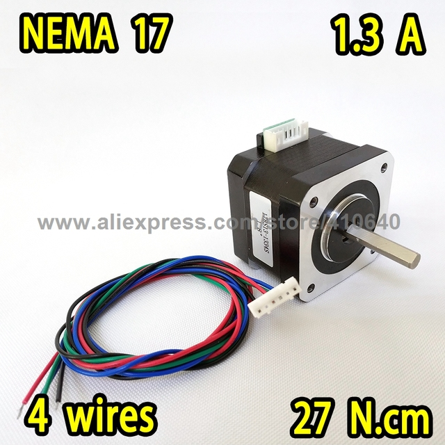 Nema17 Plug Type Stepper Motor 17HS13-1334S L 33 mm with 1.8 degree  1.3 A  22 N.cm 4 Wires BETTER QUALITY Promotion Sales