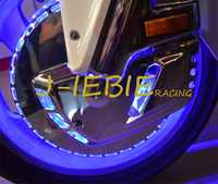 Ring of Fire Blue Brake Disc Rotors Covers For Honda GOLDWING GL1800 2001-2016