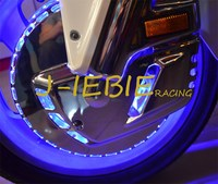 Ring of Fire Blue Brake Disc Rotors Covers For Honda GOLDWING GL1800 2001 2016