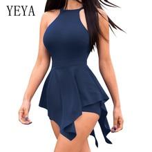 YEYA/женские обтягивающие костюмы высокого качества, сексуальные, без рукавов, с открытой спиной, винтажное, летние, повседневные, облегающие костюмы