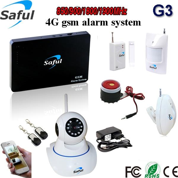 цена на Wireless Gsm Alarm System  98 Wireless/2 wired zone Defense Zones Gsm Alarm Motion Defector remote ip camera view record