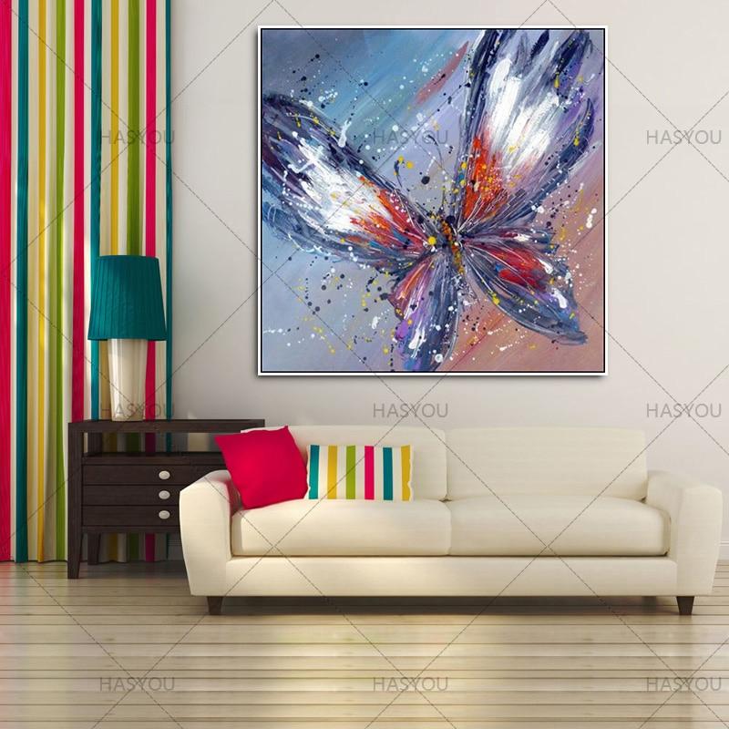 Brezokvirna ročno poslikana umetniška dela visoke kakovosti moderna - Dekor za dom - Fotografija 3