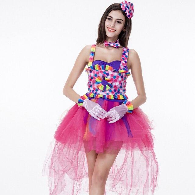 2580ed1ff Colorido Vestido Cantor Trajes Cosplay Dia Das Bruxas Bonito Lolita  Fantasia Vestido de Festa Mulheres vestido