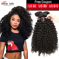 Cheap 7A Unprocessed Brazilian Virgin Hair Kinky Curly 3Pcs Brazilian Kinky Curly Virgin Hair Weave Bundles Human Hair Extension