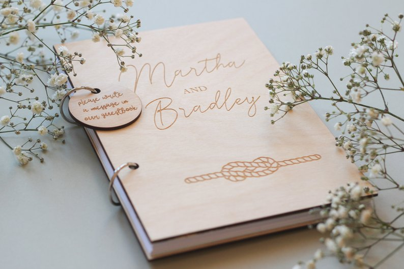 Wedding Guest Book, Custom Guestbook, Wooden Guestbook, Wedding Album Nautical Guestbook, Beach Guestbook, Nautical Decor