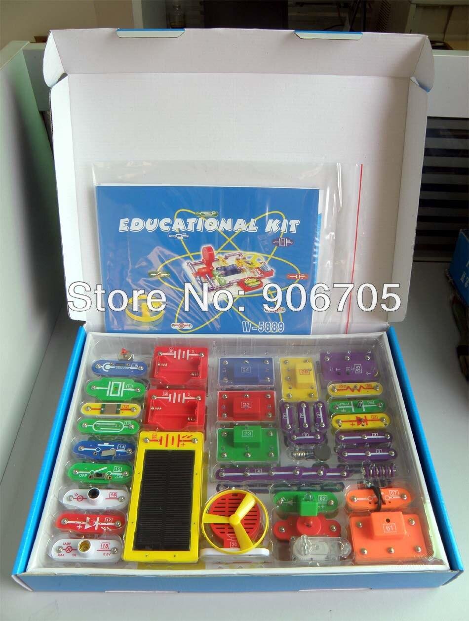 Солнечный электронный блок комплект WII-6888 электронный игрушки, Электронный строительные блоки, Обучение и образование игрушки