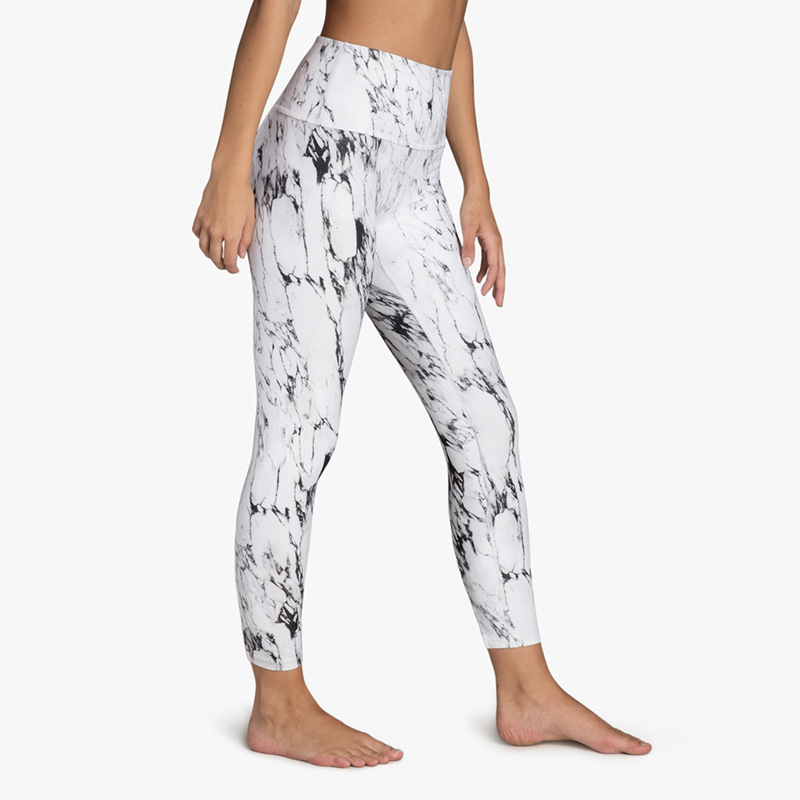Floral Printed Slim Women Leggings High Waist Fitness Pants 2018 Summer Female Black White Leggings