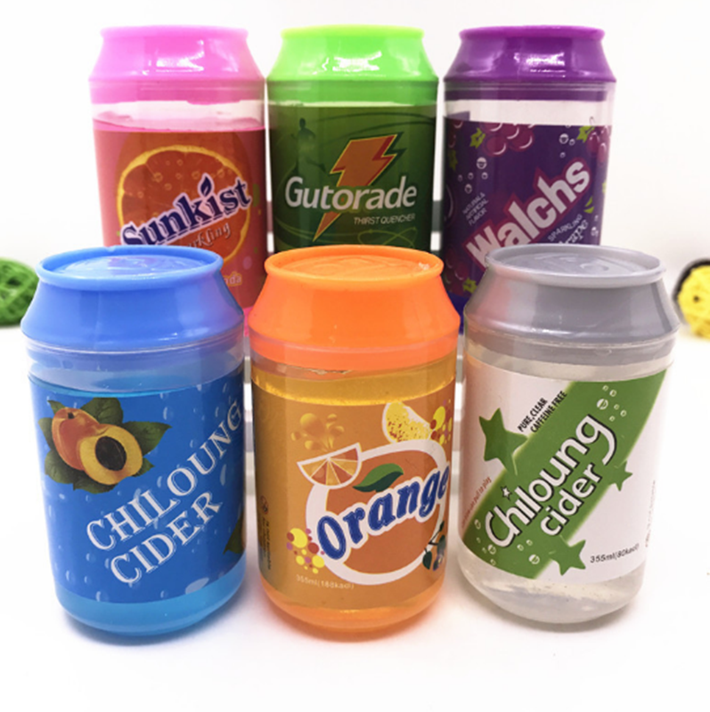 Cute 5 color cans of Slime crystal mud DIY transparent jelly mud blowing bubbles