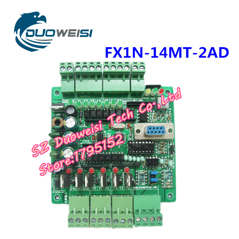 PLC industrial control panels analog FX1N-14MT-2AD-RS485 stepper motor controller PLC FX1N 14MT 2AD RS485 plc srt2 od04