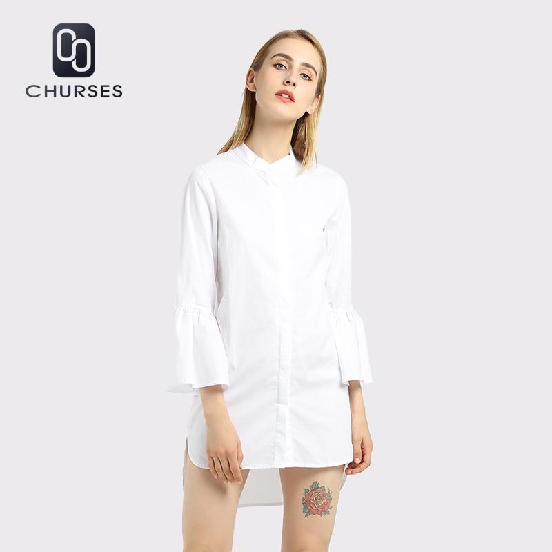CHURSES Women Dress White Shirt Dress Aus