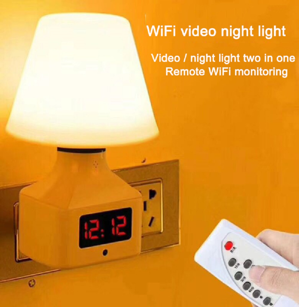 Smart Home Security Camera 2MP Image Sensor System Personal Wireless Lighting Table Lamp Smart WIFI Mini IP Camera