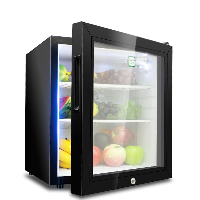 30L Mini Refrigerator Household Single Door Wine Milk Food Cold Storage Home Cooler Dormitory Freezer Fridge LBC-30AA цена и фото