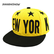 [HEAD BEE] Fashion Baseball Cap Children Summer Style Letter NEW YORK Star Snapback Hip Hop Hats Casquette For Girls and Boy