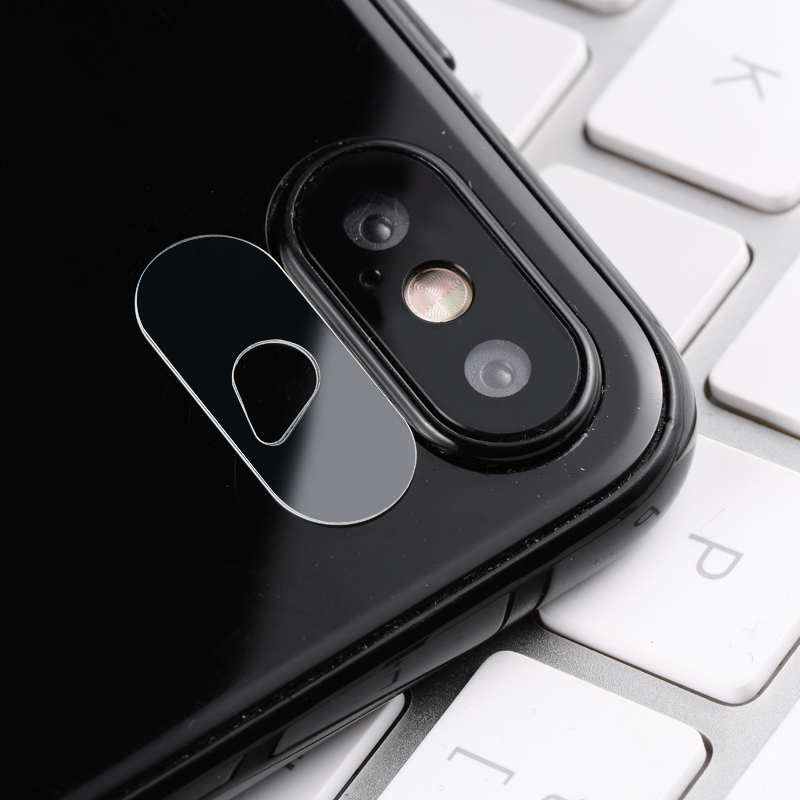 Ollivan Camera Len Films For iPhone X Ultra Thin Crystal Tempered Glass + Metal Rear Camera Lens Protective Ring For iPhone 10 X