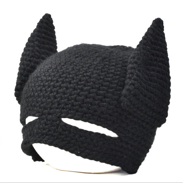 Online Shop New Funny Handmade Batman Mask Hats Knitted Beanie Hat