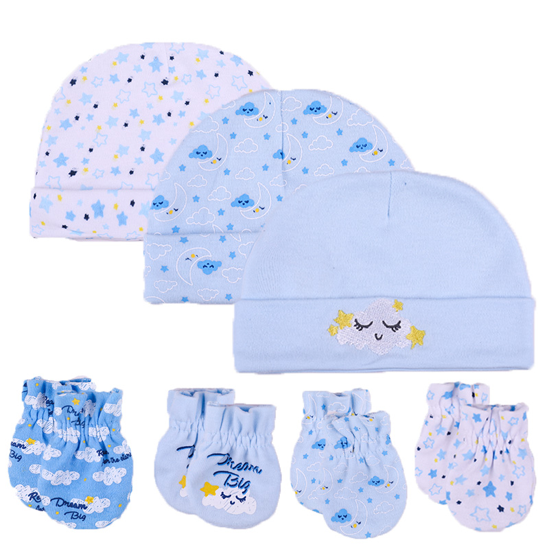 9c8dfaae9 New Baby Hat Mittens Newborn 100% Cotton Baby Cap Infant 0-6 Months  Photography Props Baby Accessories for New Baby Girls