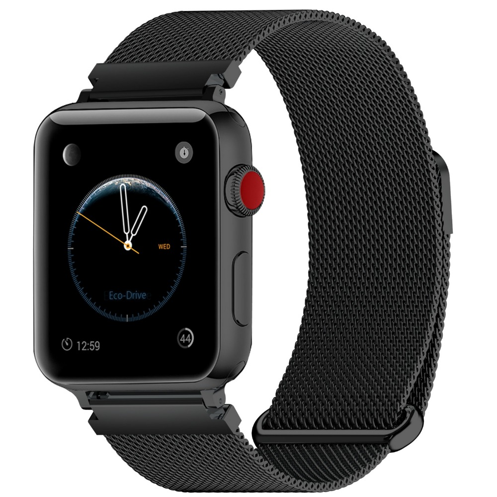 4 Colors of Apple Watch Band 38mm 40mm 42mm 44mm, Fullmosa WEB Milanese  Mesh iWatch Strap for Apple Watch Bands Series 4 3 2 1