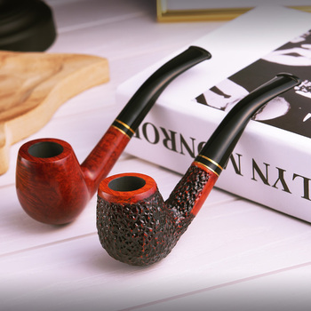 Briar Pipe tobacco Wooden tobacco pipes Smoke pipe Bent type Smoking pipes Tobacco accessories Man's gift for him