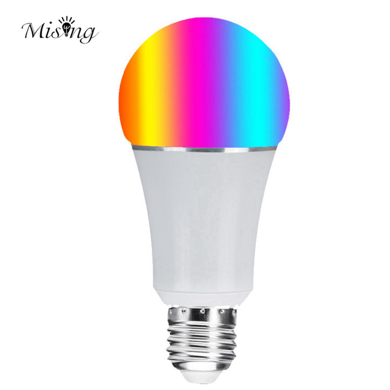 Mising 7W E27 WiFi Smart LED Light Bulb RGBW 5050 22leds APP Control Dimmable LED Lamp Work With Alexa Google Home AC85 265V