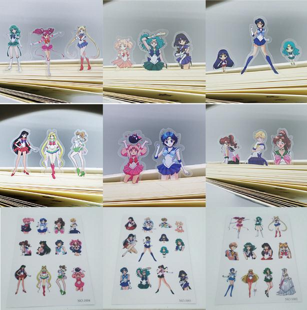 Free Shipping 36pcs/lot Sailor Moon Stationery Scrapbooking Stickers 3D Noctilucent Sticker Note Decoration Label