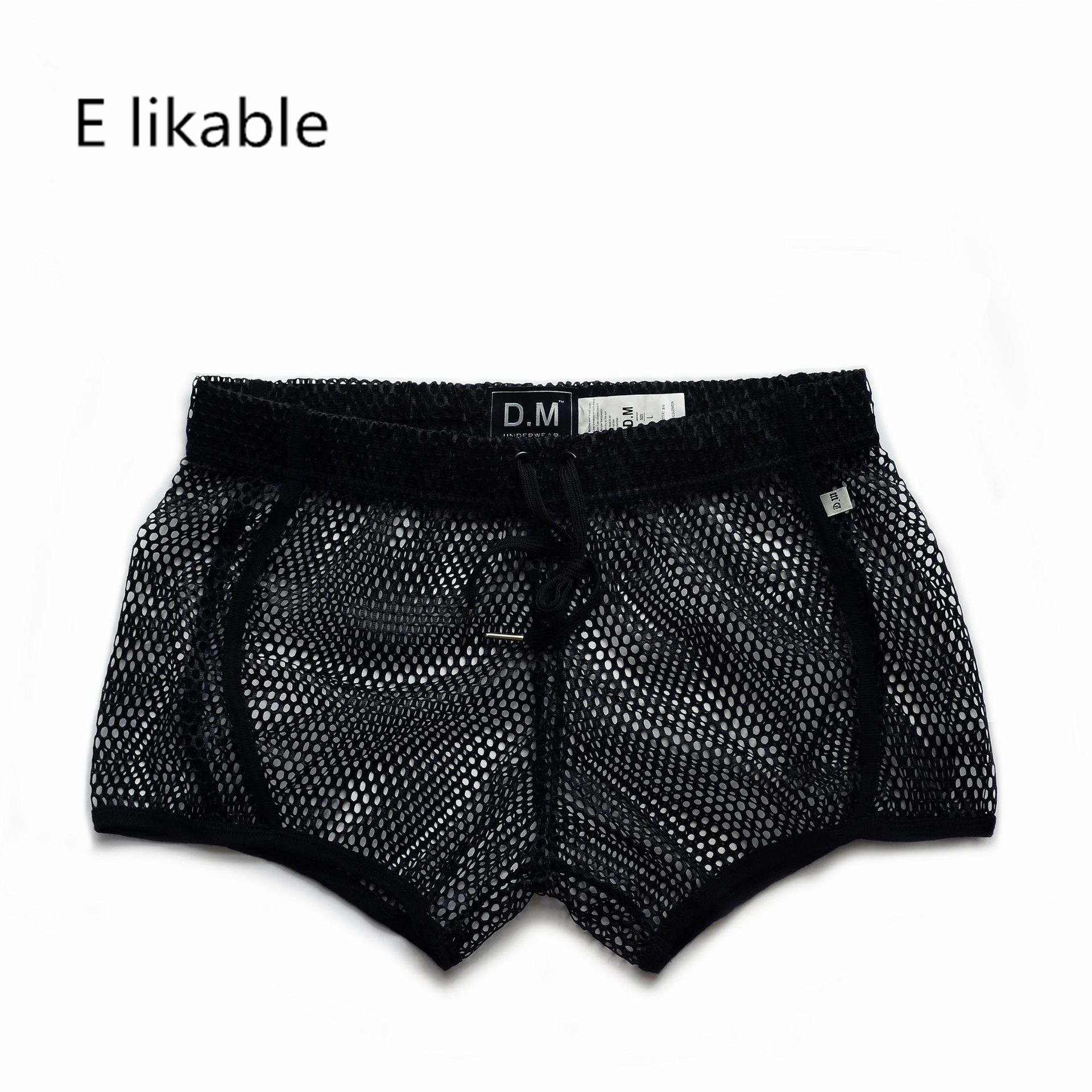 E Likable Europe And The United States Youth Fashion Men's Underwear Comfortable Breathable Loose Home Sexy Low Waist Boyshort