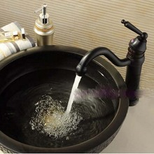 Oil Rubbed Bronze Bathroom Vessel Sink Vanity Basin Faucet Single Handle Mixer