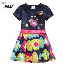 Baby girl summer dress NEAT round collar cotton butterfly print girl clothes cute girl short sleeve dress kids clothes SH5868