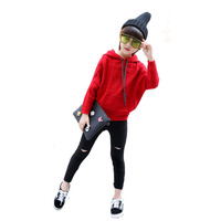 Sportowe Z Kapturem Z Dzianiny Swetry Dla Dziewczyny Zima Czerwony Szydełku Sweter Dzieci Dla Dzieci Dziewczyny Odzież Piękne Grube Kratę Wiosna Nowy