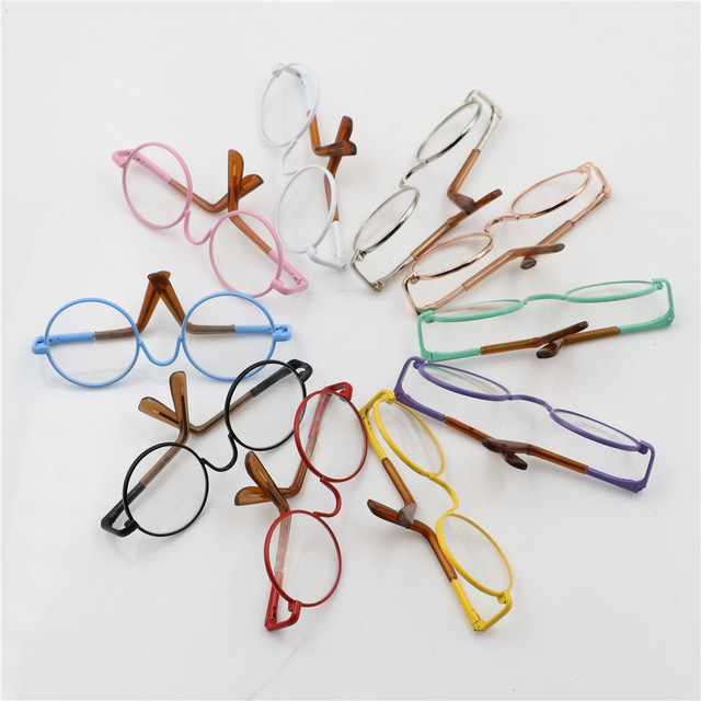 Round-Shaped Colorful Glasses For Doll