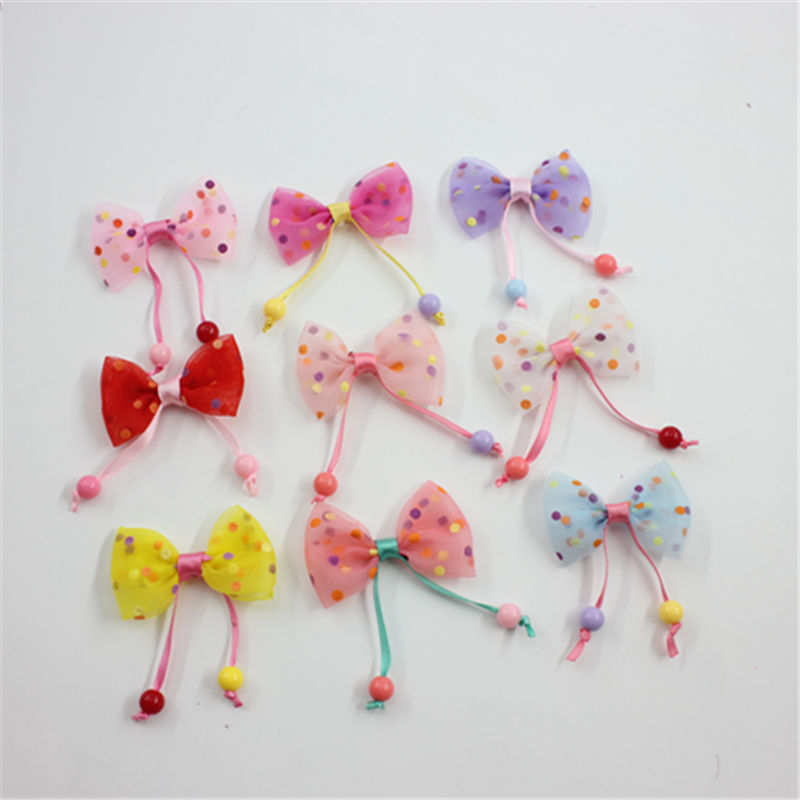 6 Pack cute trinkets with yarn small hanging beads Christmas tree DIY wreath decoration accessories bow in Christmas Bows from Home Garden