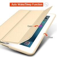 чехол для для iPad 3/для iPad 2/iPad 4 и кремния мягкая задняя обвинение из кожи смарт-чехол для iPad 3 В случае 9.7 дюймов автоматический сон/бодрствование вверх