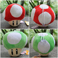 12cm 2pcs/lot Super Mario Mushroom Plush Toys Red & Green Mushroom Stuffed Doll Soft Baby Toys Gift For Children