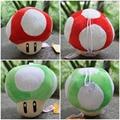 12cm 2pcs/lot Super Mario Mushroom Plush Toys Red & Green Mushroom Stuffed Doll Soft Baby Toys Gift For Children