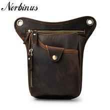 Norbinus натуральная кожа, мужская сумка, натуральная кожа, поясная сумка, повседневная сумка через плечо, сумка-мессенджер, мужская сумка для телефона