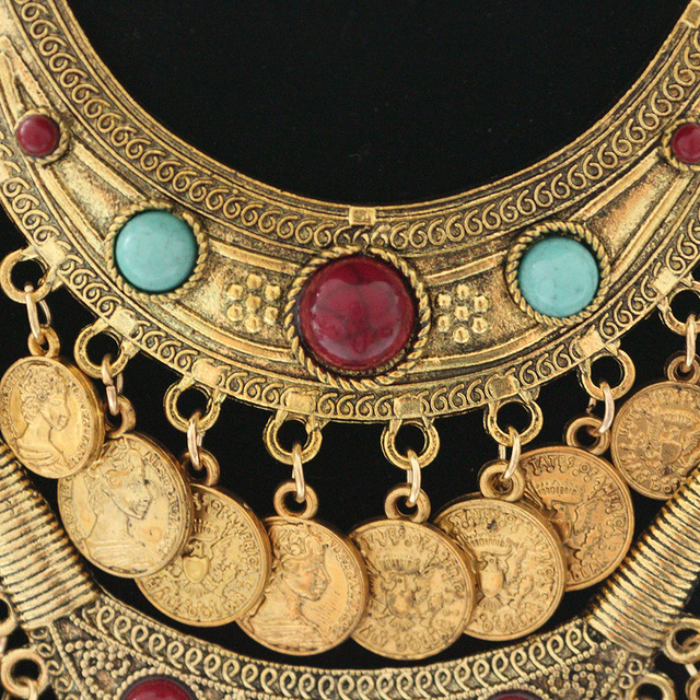 Bohemian Ethnic Coin Necklace