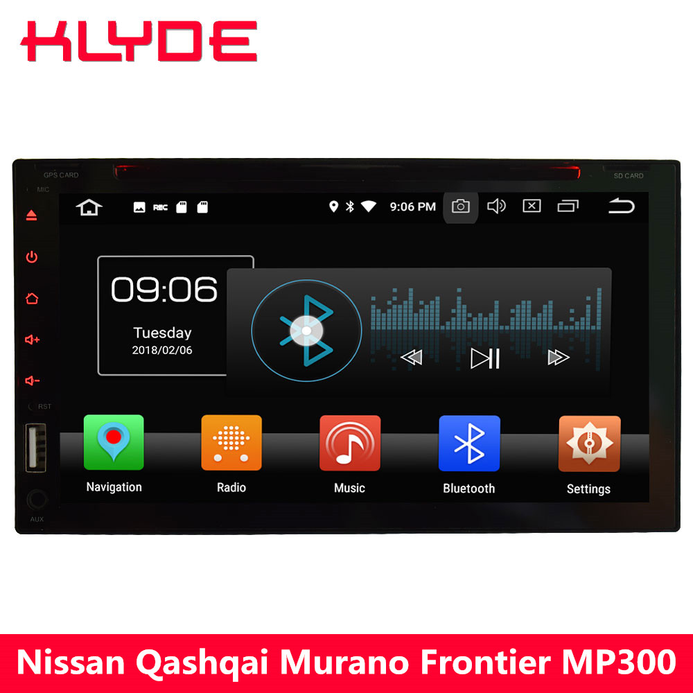 KLYDE 4G Octa Core Android 8 4 GB + 32 GB 2Din universel voiture lecteur DVD Radio pour Nissan 350Z x-trail Sunny patrouille Versa Micra NV200