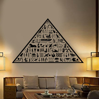 Free Shipping Ancient Egypt Egyptian Pyramid Hieroglyphs Vinyl Wall Decal Home Decor Art Mural Removable Wall Stickers