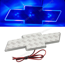 ANGRONG 1X красный/белый/синий водостойкие Декоративные логотип автомобиля свет Стикеры для Chevrolet Cruz